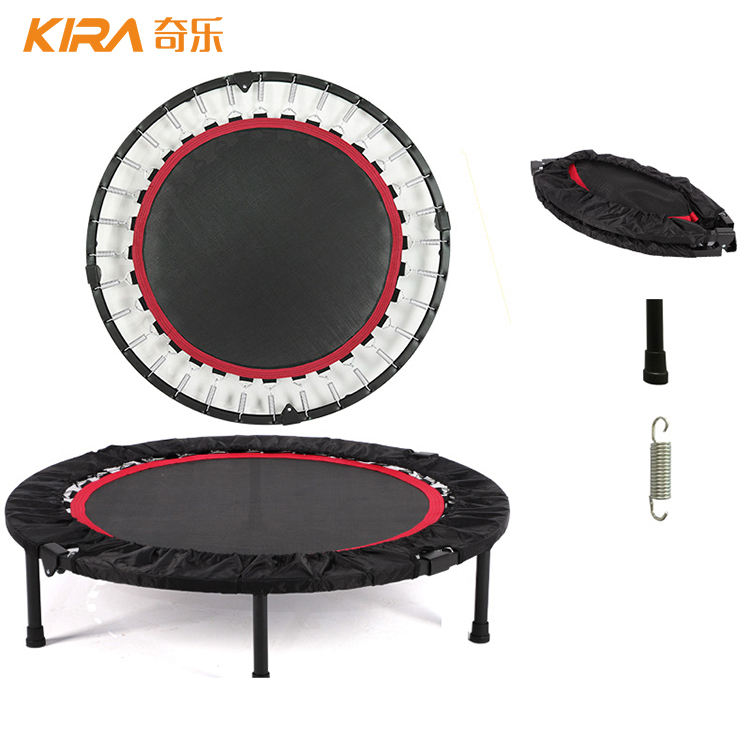 40 inch Gym bungee folding mini fitness trampoline with handle