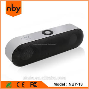 Batir NBY-18 Oval Píldora Altavoz Bluetooth Estéreo Portátil Dual 3 W Subwoofer Cuernos Con Hansfree
