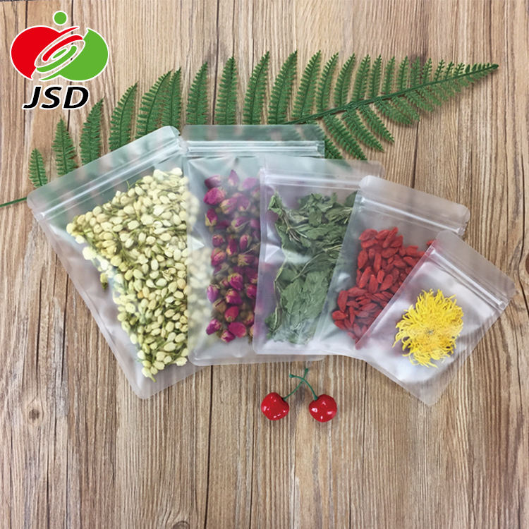 Best Price Transparent Matte Clear Plastic Pouch Zip Packaging Bags Packaging Food Candy