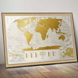 New Wholesale world map poster scratch Off Map of the world with high quality