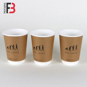 Custom printed cheap price new design disposable paper coffee cup with lid