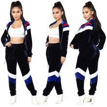 High Quality Ladies Corduroy Sweatsuit Set Clothes Velour Tracksuit Women