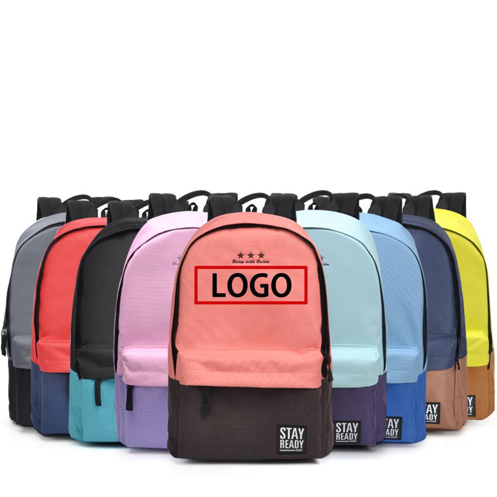 Spot lot Großhandel rucksack individuelles logo 600D PVC schule tasche mädchen rucksack lager zollabfertigung verkauf