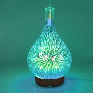 Essential Oil Diffuser Firework Humidifier 3D ผล Light AROMA Mist Maker US