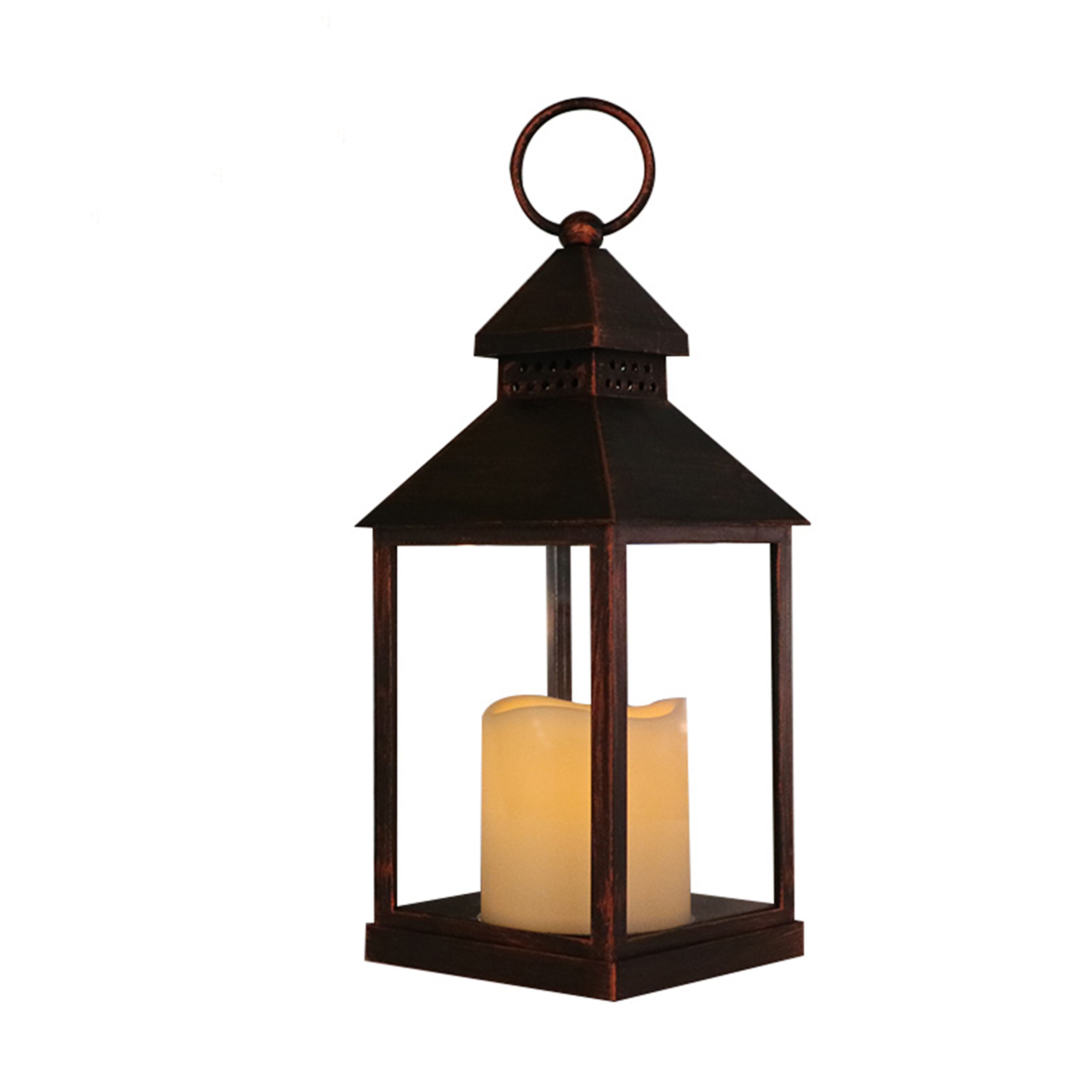 Home Decor Plastic High Quality Battery Operated Lamp Small candle Memorial Lantern