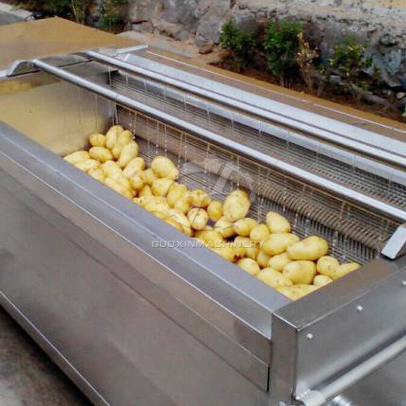 Root vegetable cleaning and polishing machine automatic cassava washer