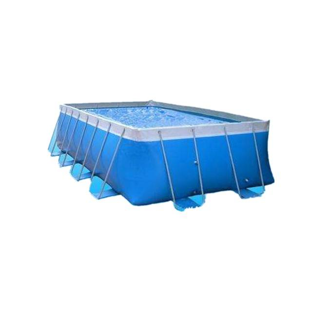 Giant outdoor ground steel frame swimming pool adults n kids inflatable water park metal swim pool for sale
