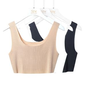 Zomer Workout Atletische Geribbelde Wit Cami Naadloze Sublimatie Tank Tops Losse In Bulk Verpleging Tank Crop Top