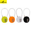 Travelsky Factory long shackle luggage padlock travel mini resettable 3 digital combination lock for luggage