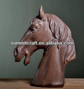 fransız ülke ahşap renk reçine at başı heykeller satılık
