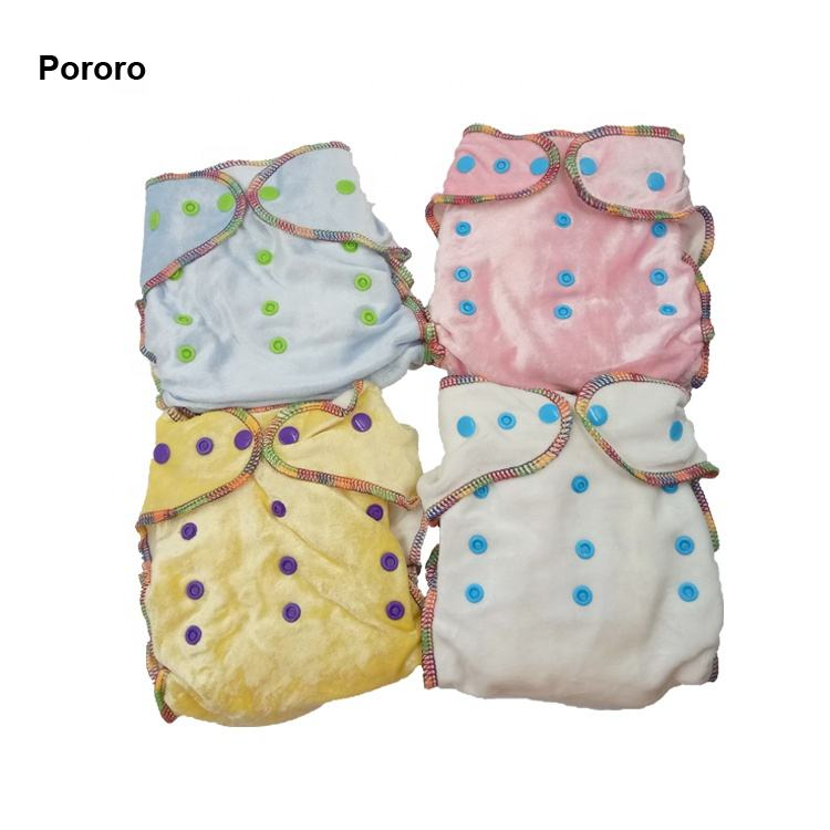 High Quality Velvet Cloth Diapers Organic Bamboo Cotton Inner Baby Use Reusable Nappies