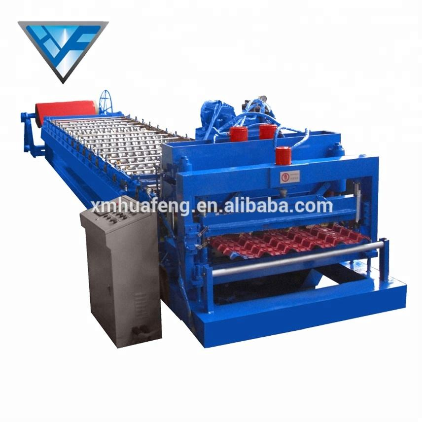 Tile Making Machine Glazed Tile Roll Forming Machine Zinc Roofing Sheet Machine YX32-194-970
