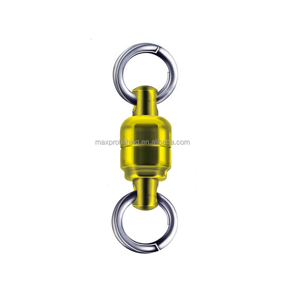 0# Rolling Rotary Joint Snap Pin Ball Bearing Enhanced Connector Fishing Gear Accessories Stainless Steel Sea Fishing Speed Bearing Swivel