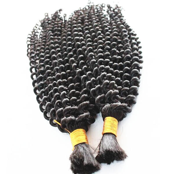 China hair factory wholesale cheap 100%indian human natural bulk hair for braiding curly