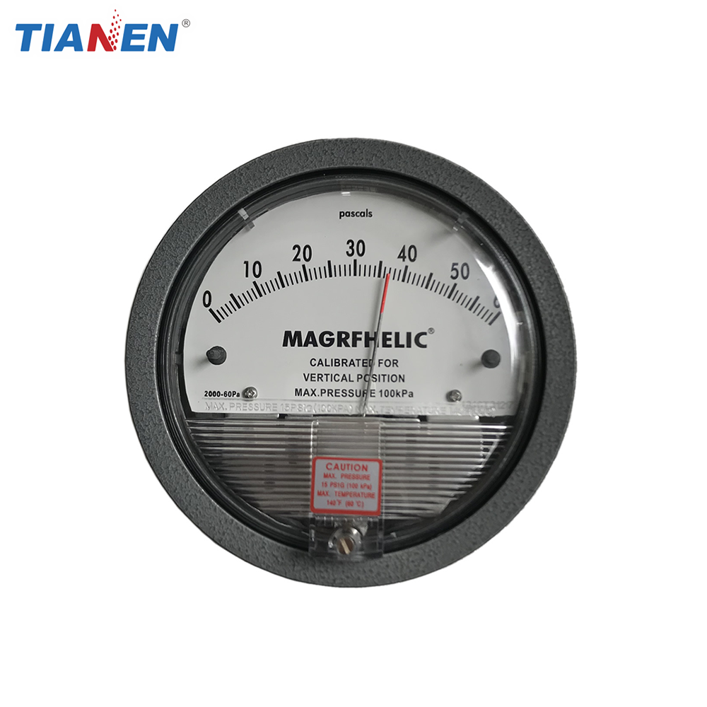 Magrfhelic differential pressure gauge