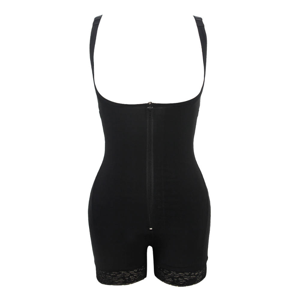 Vrouwen HighCompression Halverwege Dij Volledige Bodysuit & backless body shaper