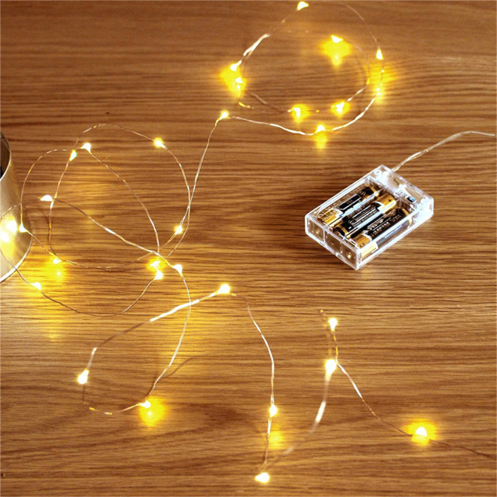 Golden Christmas Kawat Tembaga Mini LED Fairy String Lampu