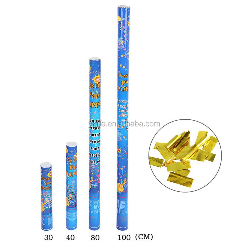 Papel Confetti Shooter de oro de 50cm 80cm Aire Comprimido Cañon Fiesta Boda Popper