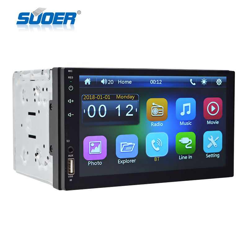 universal 7 inch touch screen car mp5 player manual 2 din car mp5 player bluetooth With USB/AUX Car Audio Stereo Radio Receiver
