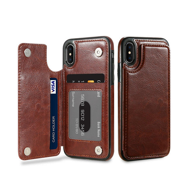 High Quality Business Style Phone Case Newest Smart Phone Wallet Leather Flip Cover for iPhone X XR XS MAX 7 8 plus
