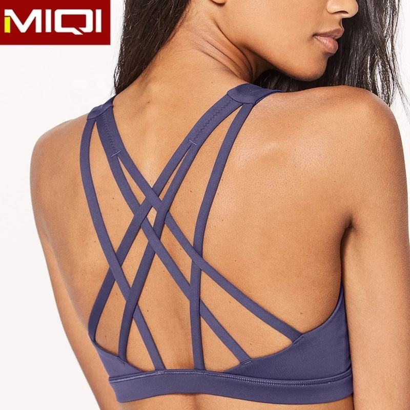OEM Active Wear Women Custom Color Sports Bra With Strap
