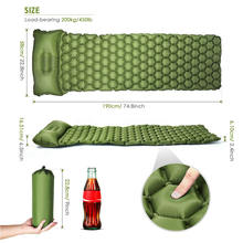 Durable Inflatable Beach Mat Camping equipment,  Mats Lightweight Sleeping Pad Self-inflating with Pillow outdoor sports.