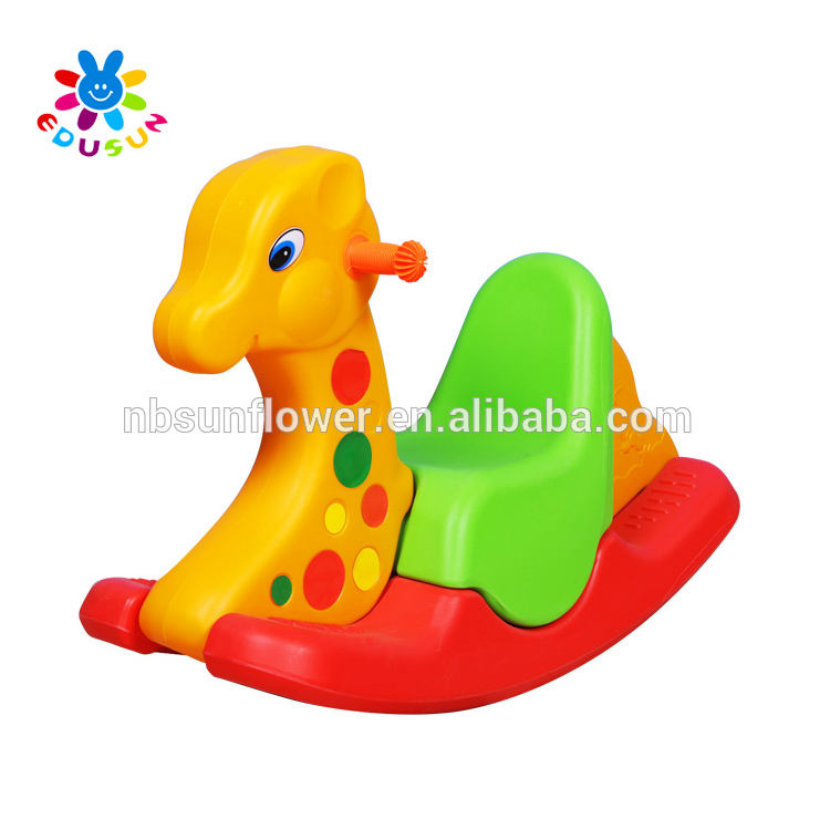 Three Colors Deer Shape Plastic Rocking Toy Plastic Seesaw, animal shape plastic Rocking Toy