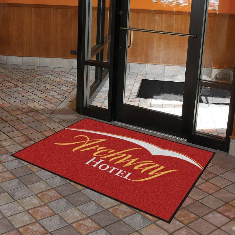Commercial welcome entrance custom printed logo floor mat for company