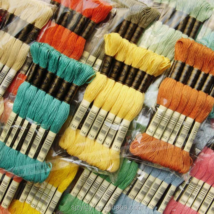 Wholesale embroidery floss , cross stitch threads