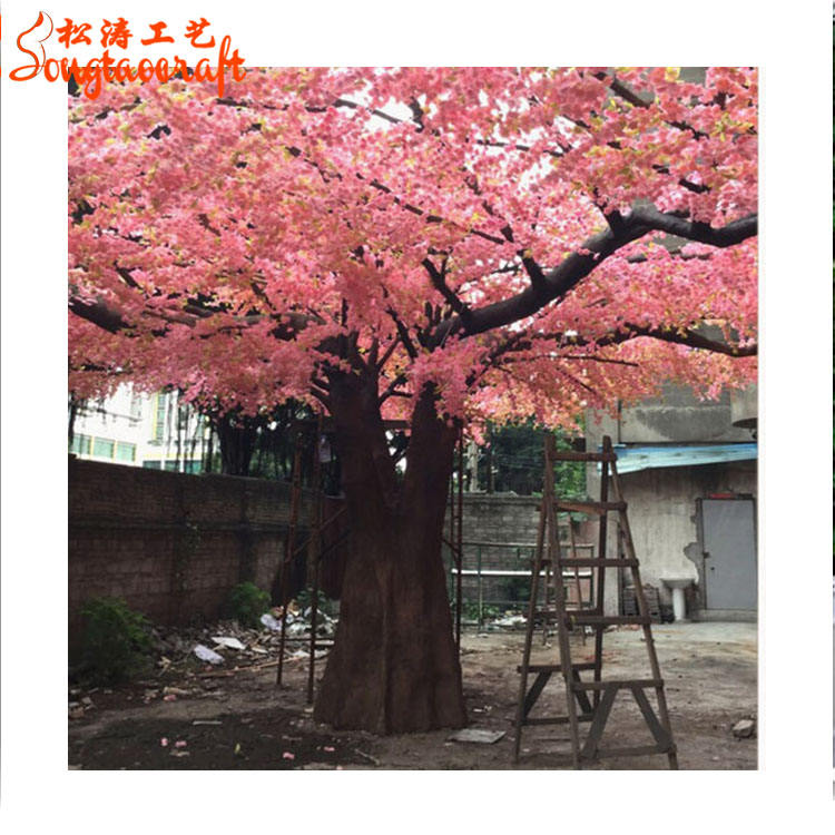 Huge pink color how to draw outdoor lighted artificial trees cherry blossoms