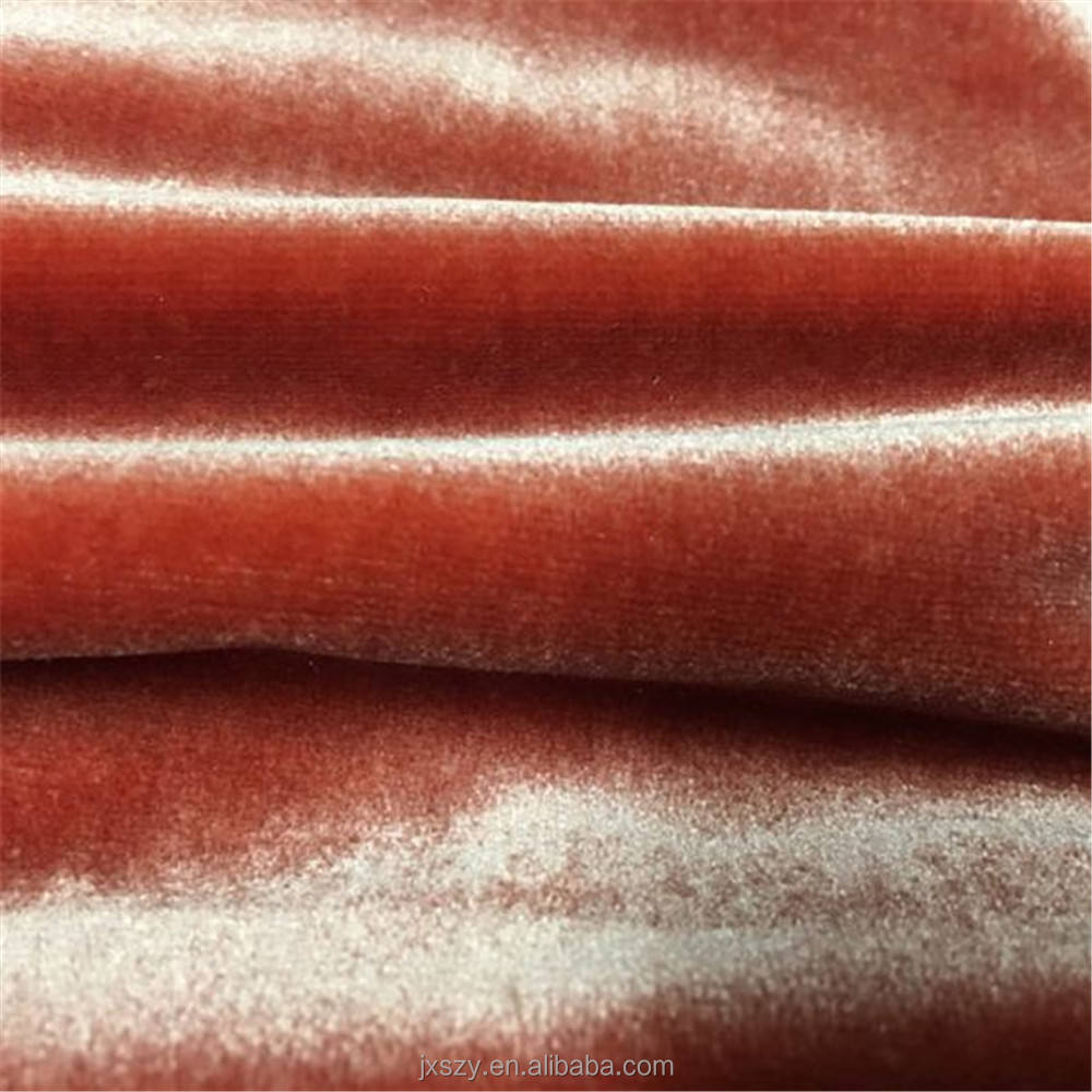 Custom Dyeing 100% Silk Velvet Fabric in Solid Color for dresses