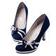 Fashion western women shoes elegant high heel bowknot matching design new ladies shoes