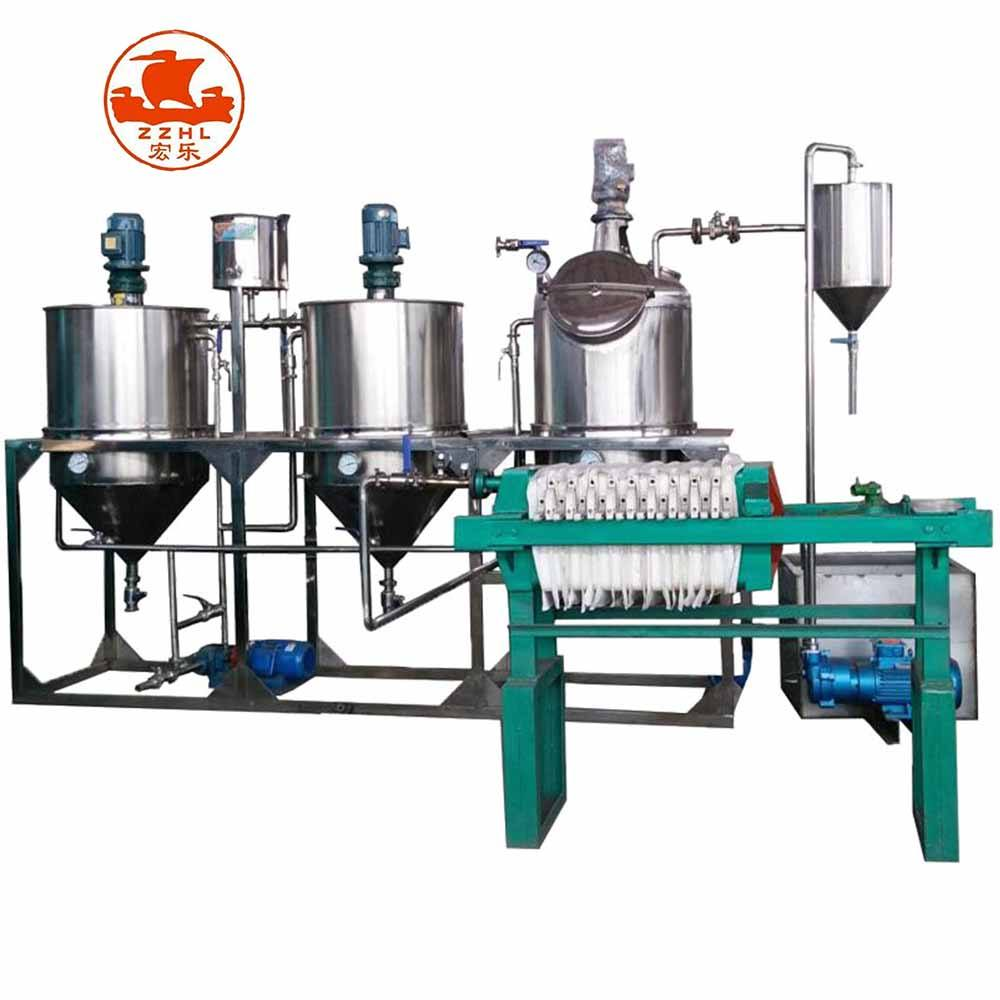 Small Capacity Scale Crude Oil Refinery/oil Mini Refinery Equipment Machine/cooking Vegetable Oil Refining Plant Machine Price