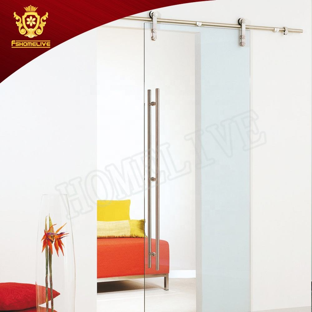 Partition Doors [ Door Glass ] Glass Indoor Frameless Hanger Door Interior Tempered Glass Sliding Barn Door
