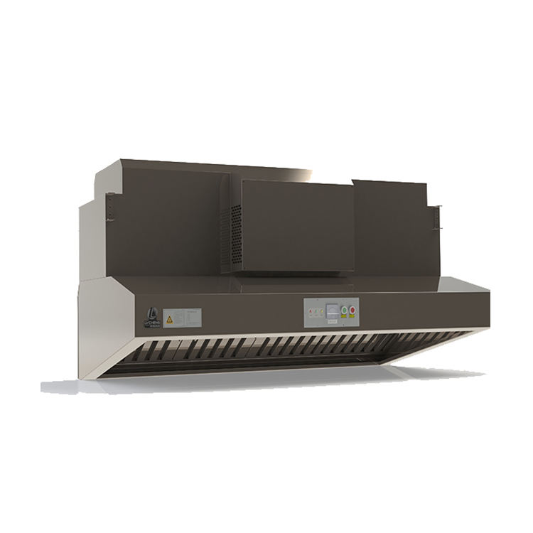 LVcheng stainless steel housing commercial restaurant exhaust cooker range hood with ESP ecology unit