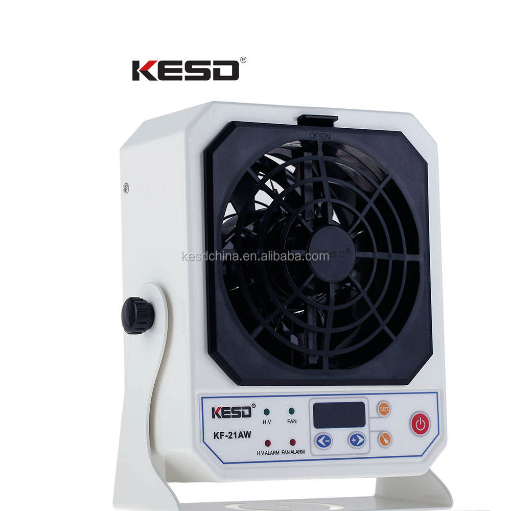 KF-21AW ESD benchtop ionizing air blower auto-cleaning ion fan