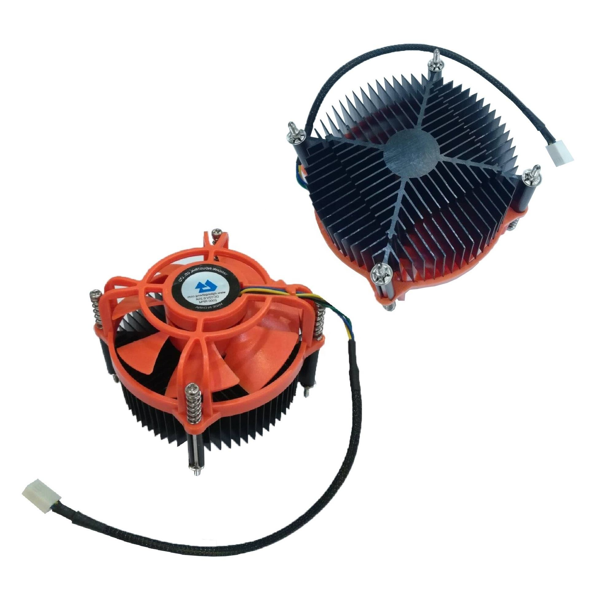 Intel socket alloy heatsink 90mm fan 12v dc cpu cooler fans cooling Computer Case Application OEM manufacturer silent