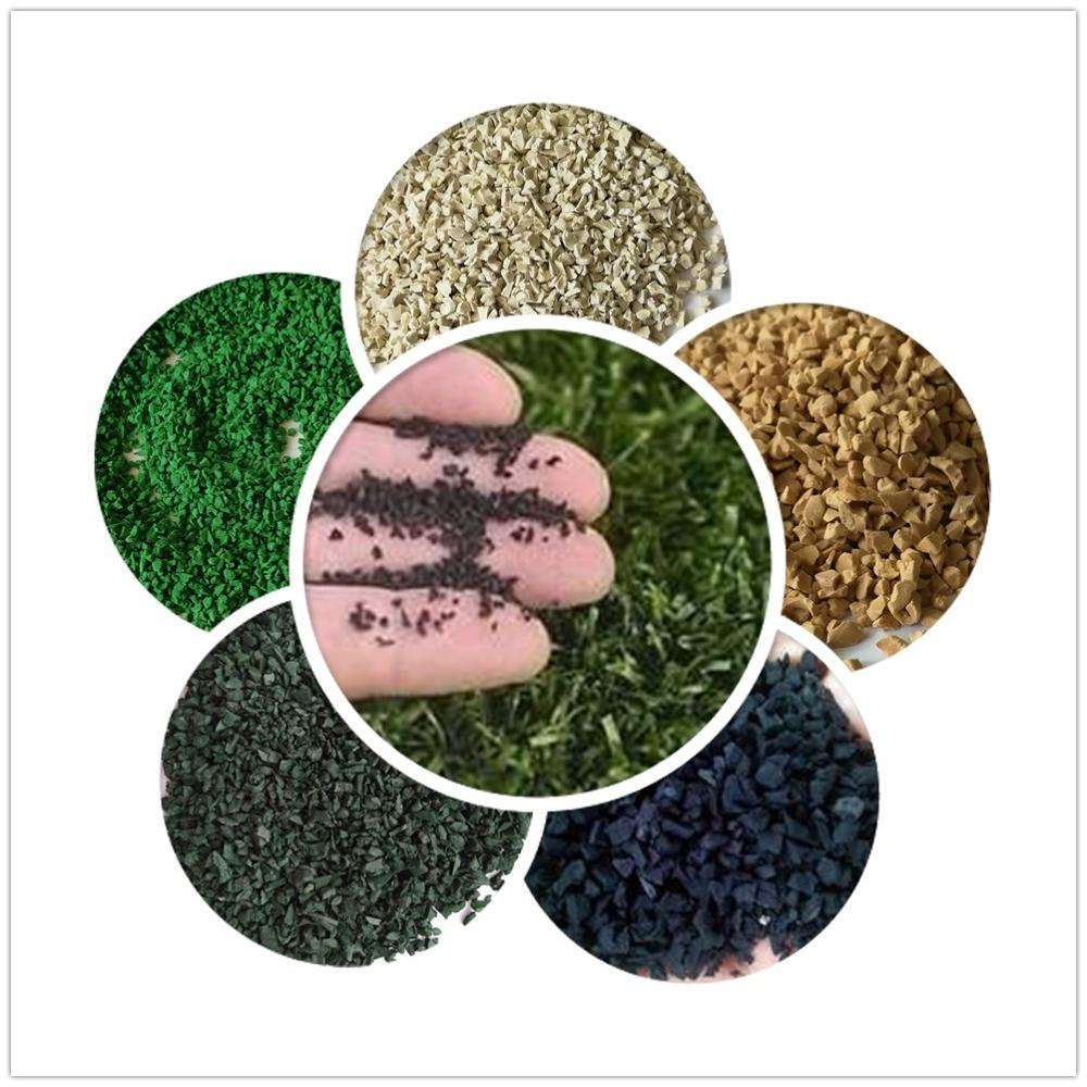 Good quality Rubber Crumb Recycled Colorful Rubber granules
