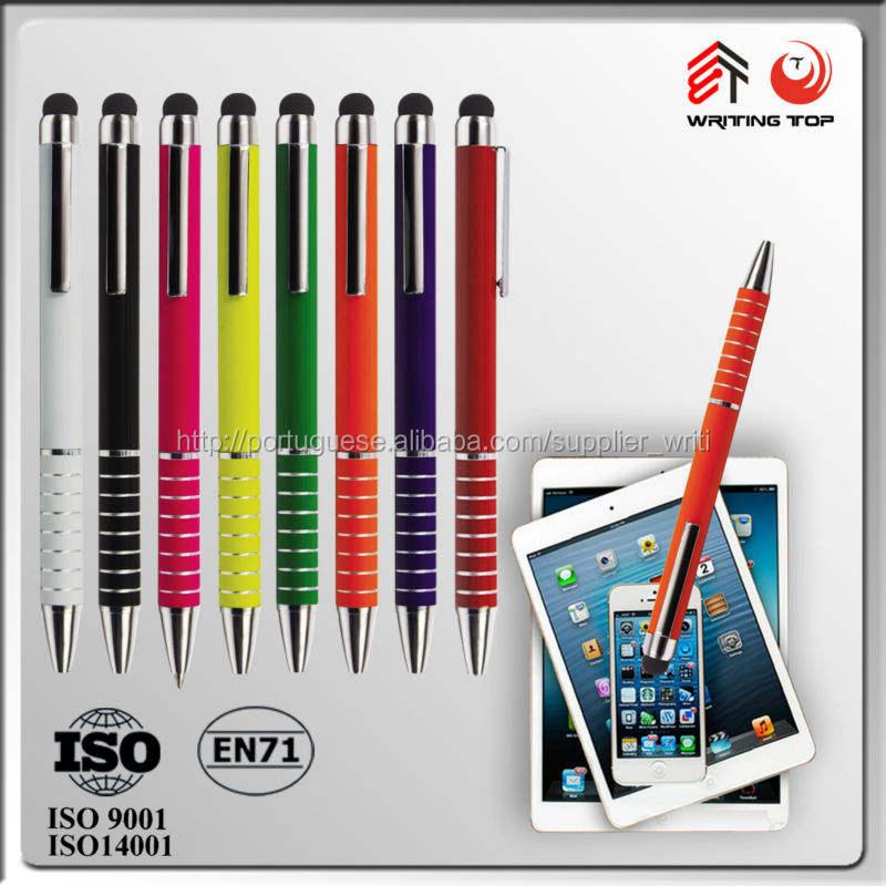 2014 tablet pc caneta com ar gravura stylus