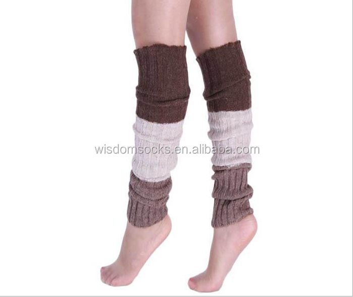 2020 hot sale custom knee high 100%acrylic fashion women leg warmer