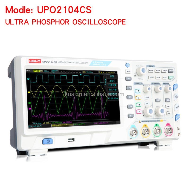 High quality Storage DSO Dual Channels Digital Oscilloscope UPO2104CS