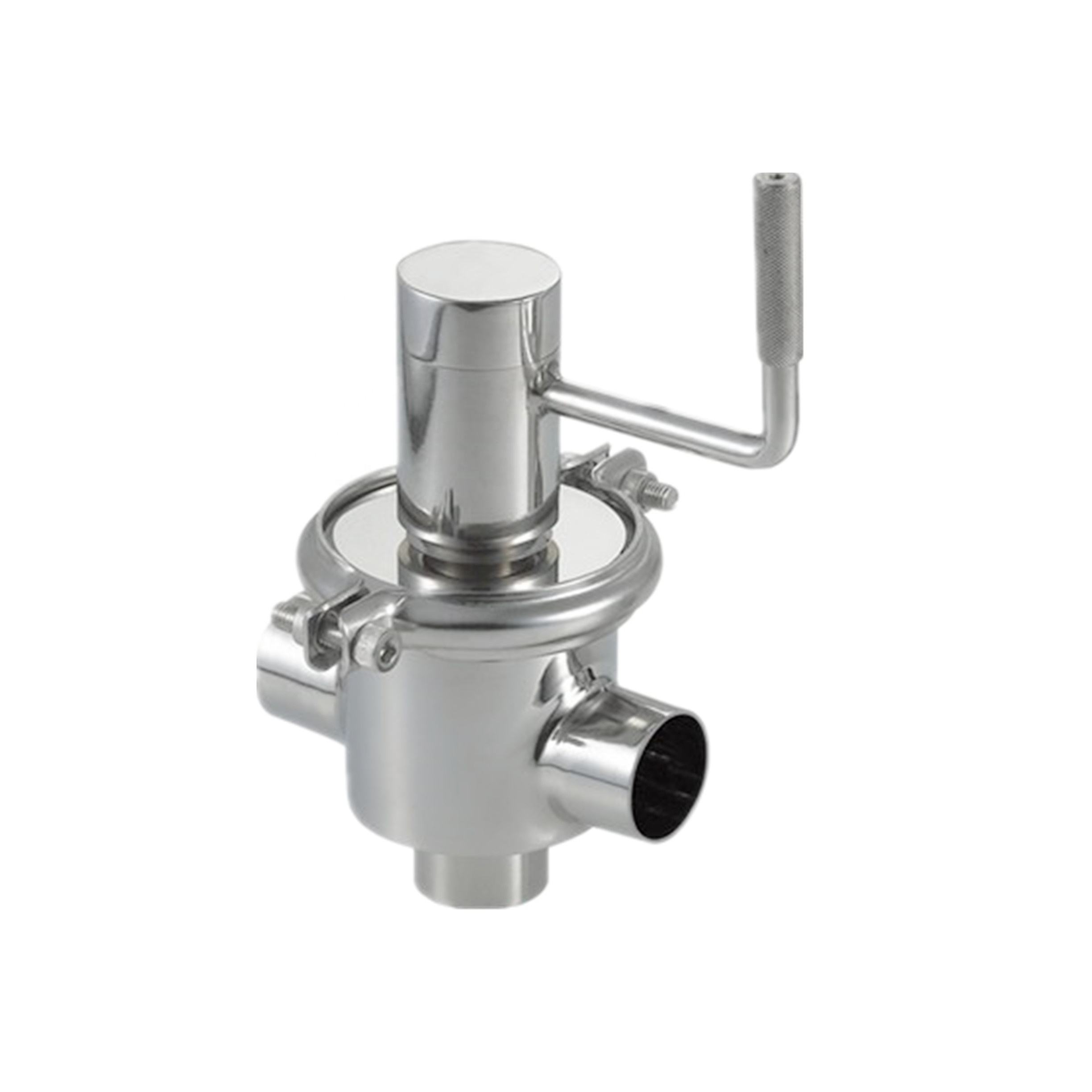 Stainless steel sanitary manual seat valve/reversing valve