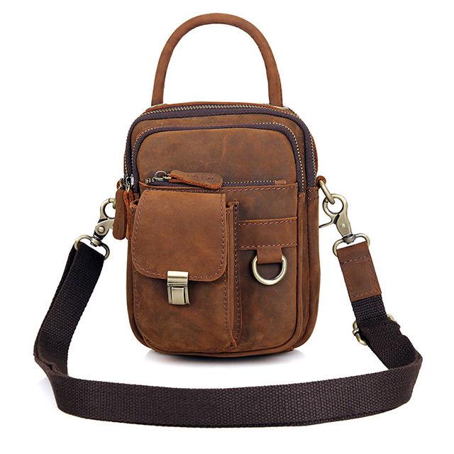 Повседневная мужская камеры небольшой кожаный портфель Crazy Horse ретро мужская <span class=keywords><strong>сумка</strong></span>