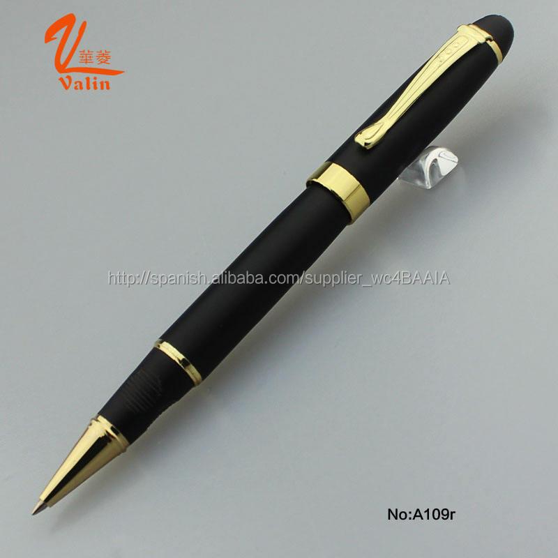 2016 Valin novedad <span class=keywords><strong>papelería</strong></span>, bolígrafo y pluma del rodillo con el material del metal