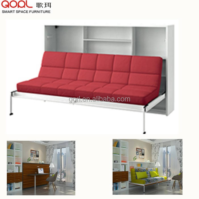 Hot selling wholesale smart furniture CF124SF folding sofa wall bed in living room