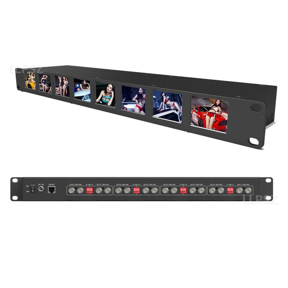 Standard 19 inch Rackmount 2 inch 3G/HD/SDI Rack Broadcast Monitor For TV News production