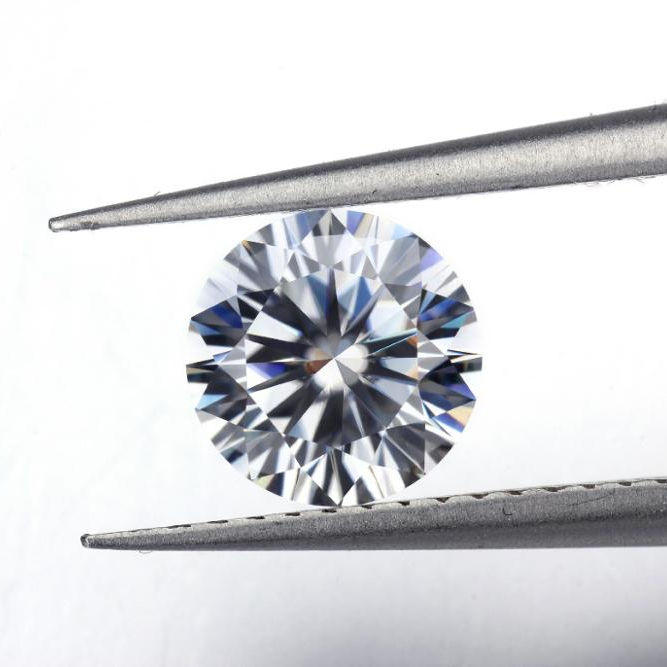 White Color 6.5mm Lab Grown Loose Diamond Polished Synthetic moissanite