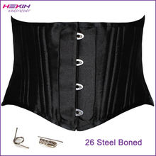 Hexin Newly 26 Steel Boned Black Big Women Waist Shaping Corset