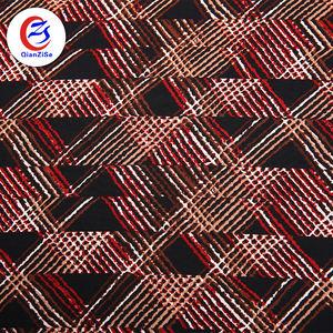 Respirant doublure imprimée tissu mauvaises herbes imprimé feutre tissu pour femmes robe