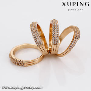 14654 Fashion luxe sieraden zirkoon ring, 18 carat dames vinger gold ring ontwerp